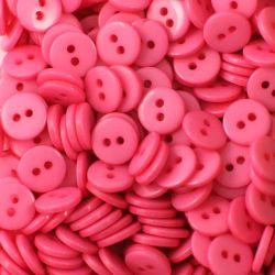 Boutons rose vif résine 1cm (lot de 100)