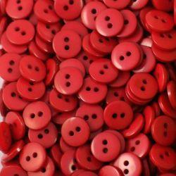 Boutons rouge foncé résine 1cm (lot de 100)