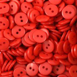 Boutons rouge clair résine 1cm (lot de 100)