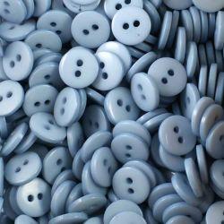 Boutons bleu gris résine 1cm (lot de 100)
