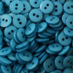 Boutons turquoise foncé résine 1cm (lot de 100)
