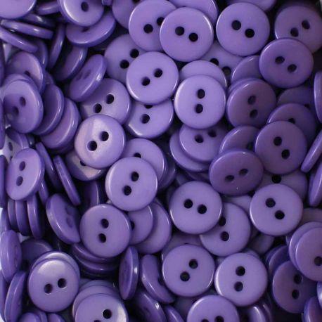 Boutons violet résine 1cm (lot de 100)