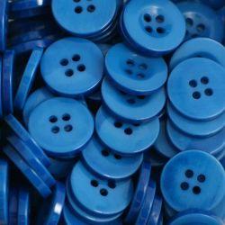Boutons bleu moyen résine 1,6cm (lot de 100)