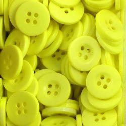 Boutons jaune citron résine 1,6cm (lot de 100)