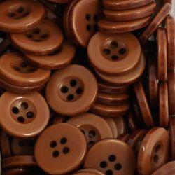 Boutons chocolat résine 1,6cm (lot de 100)