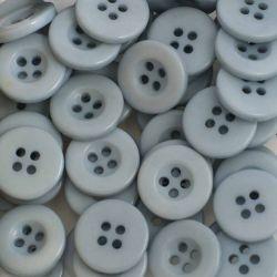 Boutons gris moyen résine 1,6 cm (lot de 100)