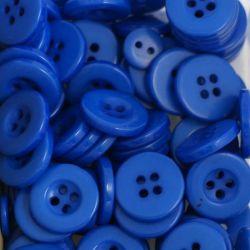 Boutons bleu navy résine 1,6cm (lot de 100)
