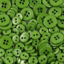 Boutons vert mousse 1cm (lot de 100)