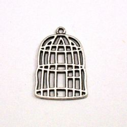 Breloque cage (lot de 20)