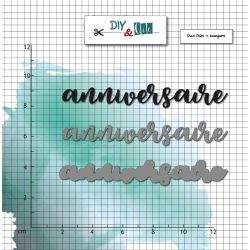 Dies et Clear stamps Anniversaire- DIY and Cie