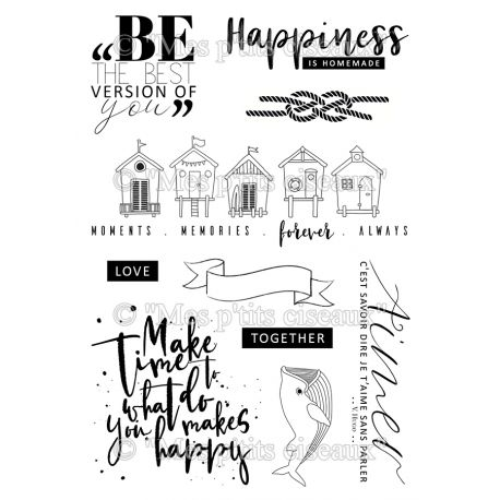 Clear stamp Happiness - Mes Ptits Ciseaux