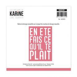 Die Long Courrier Texte Eté-Les Ateliers de Karine