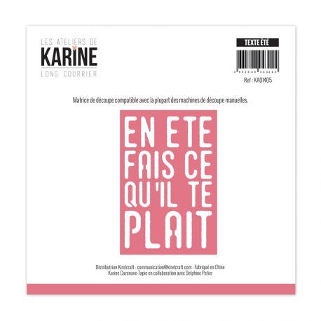 Die Long Courrier Texte Eté -Les Ateliers de Karine