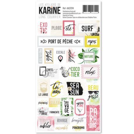 Long Courrier-stickers étiquettes