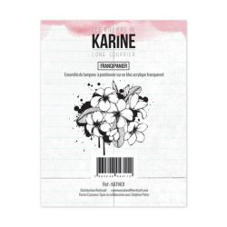 Clear Stamp Long Courrier Frangipanier- Les Ateliers de Karine