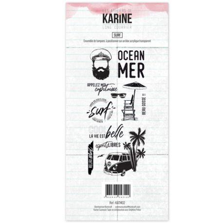 Tampon clear Long Courrier Surf- Les Ateliers de Karine