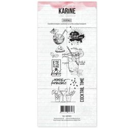 Clear Stamp Long Courrier Cocktails- Les Ateliers de Karine