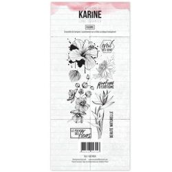 Clear Stamp Long Courrier Fleurs- Les Ateliers de Karine