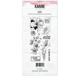 Clear Stamp Long Courrier Fleurs- Les Ateliers de Karine