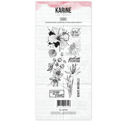Tampon clear Long Courrier Fleurs- Les Ateliers de Karine