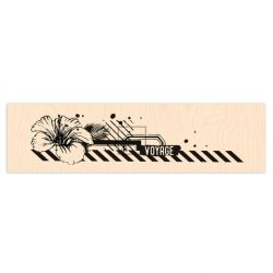Wooden Stamp Long Courrier Air Mail-Les Ateliers de Karine