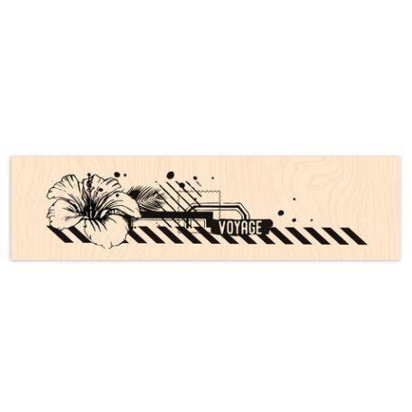 Tampon bois Long Courrier Air Mail-Les Ateliers de Karine