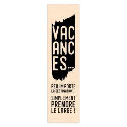 Tampon bois Long Courrier Vacances-Les Ateliers de Karine