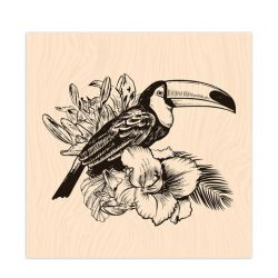Wooden Stamp Long Courrier Toucan-Les Ateliers de Karine