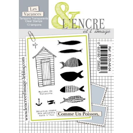 Clear Stamp As a Fish in Water -  L'Encre et l'Image