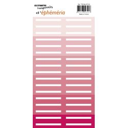 Transparents stickers label shape Pink