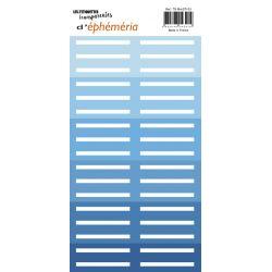 Transparents stickers label shape Blue