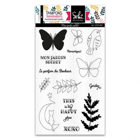 Clear stamps SO'Garden mon jardin secret  - SOKAI