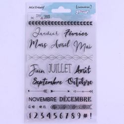 Tampon clear : Calendar - DIY and Cie
