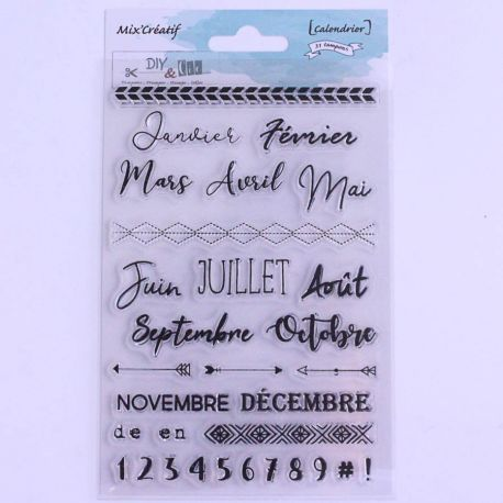 Tampon clear : Calendrier- DIY and Cie