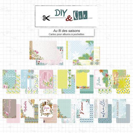 Cartes pour album à pochette : Au fil des saisons