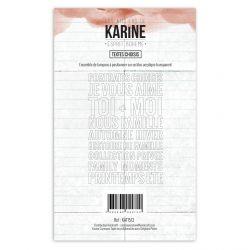 Tampon clear Esprit Bohème Textes Choisis- Les Ateliers de Karine