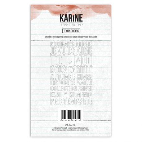 Clear Stamp Esprit Bohème Textes Choisis- Les Ateliers de Karine