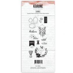 Clear Stamp Esprit Bohème Bohème- Les Ateliers de Karine