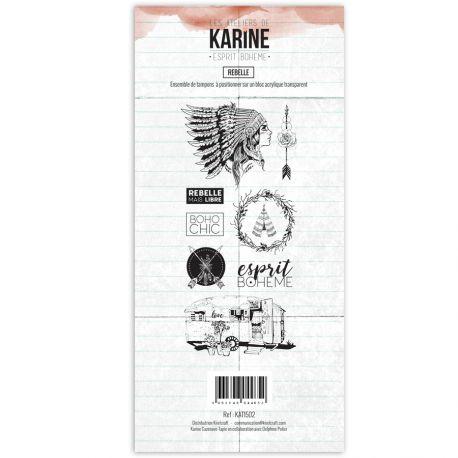 Tampon clear Esprit Bohème Rebelle- Les Ateliers de Karine
