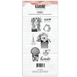 Clear Stamp Esprit Bohème Naturelle- Les Ateliers de Karine