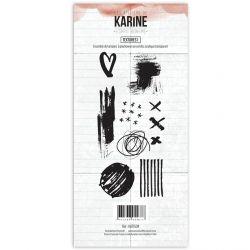 Tampon clear Esprit Bohème Textures 1- Les Ateliers de Karine
