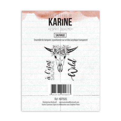 Tampon clear Esprit Bohème Sauvage- Les Ateliers de Karine