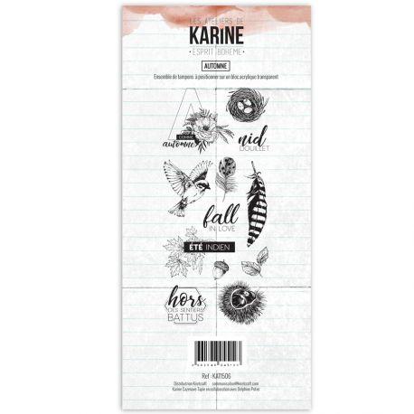 Clear Stamp Esprit Bohème Automne- Les Ateliers de Karine