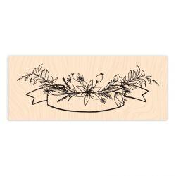 Tampon bois Esprit Bohème Bannière florale-Les Ateliers de Karine