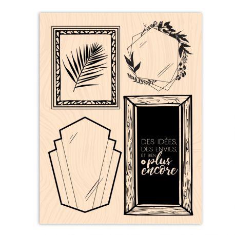 Wooden Stamp Esprit Bohème Idées encadrées-Les Ateliers de Karine