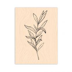 Wooden Stamp Esprit Bohème Légère comme une feuille-Les Ateliers de Karine