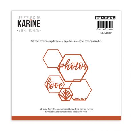 Die Esprit Bohème Love Hexagones -Les Ateliers de Karine