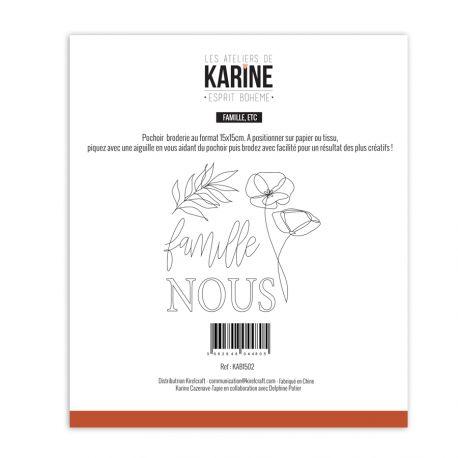 Pochoir Broderie Esprit Bohème Famille Etc -Les Ateliers de Karine