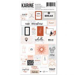 Esprit Bohème -stickers étiquettes