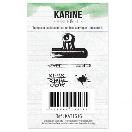 Clear Stamp Pince & Co- Les Ateliers de Karine